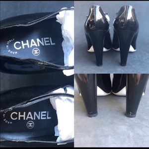 CHANEL Shoes - CHANEL Patent Buckle Leather Quilted Wedge Heels